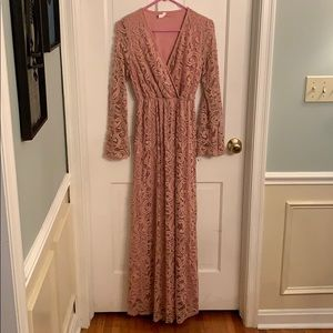 EUC Pinkblush Maxi Dress - WORN ONCE!